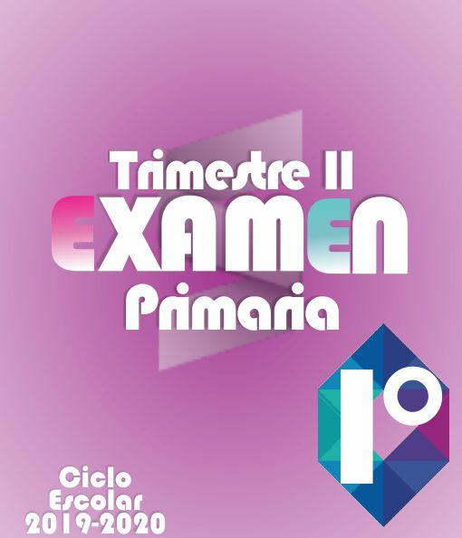Examen de Primaria 1° Grado - Segundo Trimestre 2019-2020