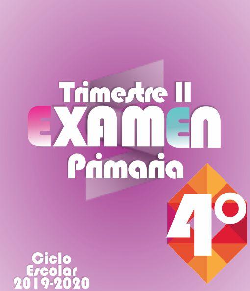 Examen de Primaria 4° Grado - Segundo Trimestre 2019-2020