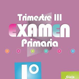 Examen de Primaria 1° Grado Tercer Trimestre 2018-2019