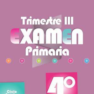 Examen de Primaria 4° Grado Tercer Trimestre 2018-2019