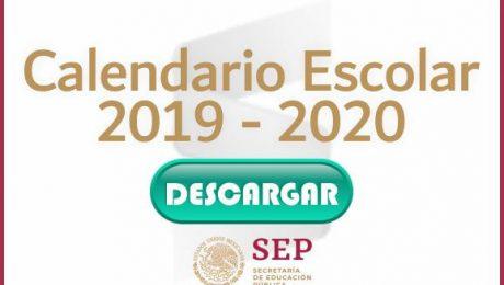 Calendario Escolar 2019 - 2020