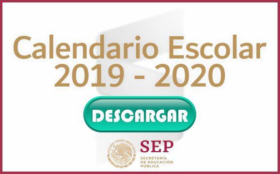 Calendario Agenda 2020 Para Imprimir.Consulta El Calendario Escolar Para El Ciclo Escolar 2019 2020