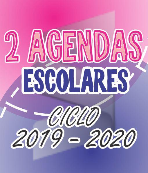 Calendario Agenda 2020 Para Imprimir.2 Agendas Escolares 2019 2020 Materiales De Inicio De Ciclo