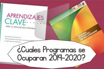 Plan, Programas y Mapa Curricular - Ciclo Escolar 2019-2020