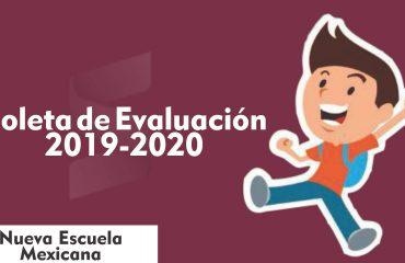 Boleta de Evaluación - Educación Básica 2019-2020