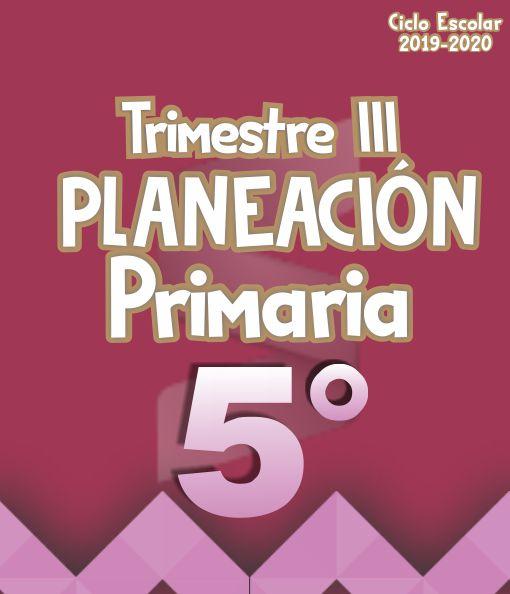Planeación Argumentada 5° Grado de Primaria – Ciclo Escolar 19-20 (Trimestre III)